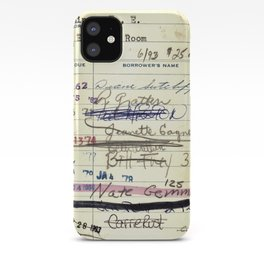 Library Card 828 The Enormous Room iPhone Case