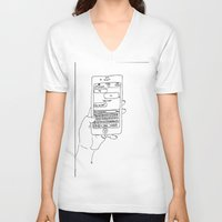 text V-neck T-shirts featuring Text by CreatureContours