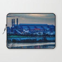 Indy's Lucas Oil Stadium Near the White River Laptop Sleeve