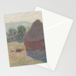 Meules, milieu du jour [Haystacks, midday] Stationery Cards