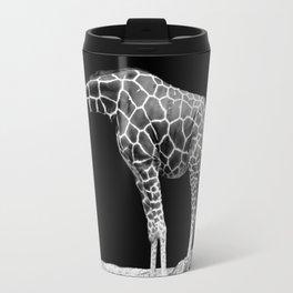Black and White Giraffes Two Giraffes Travel Mug