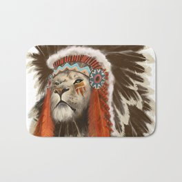 Lion Chief Bath Mat