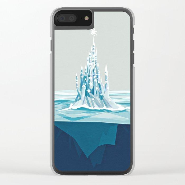 Iceberg castle Clear iPhone Case
