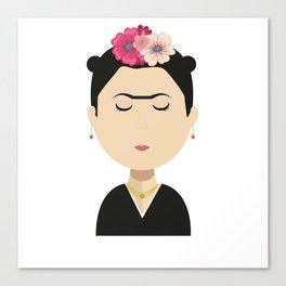 Frida Kahlo Cartoon Canvas Print