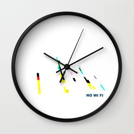NO WI-FI Wall Clock