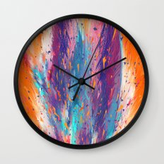 Colorful Fire Wall Clock