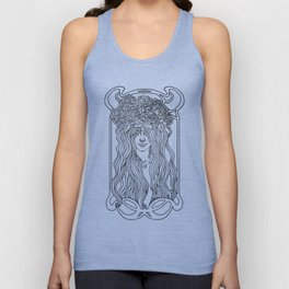 She. Art Nouveau. Unisex Tank Top