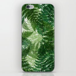 green big jungle leaves iPhone Skin
