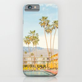 Poolside in Palm Springs - Travel Photography iPhone Case