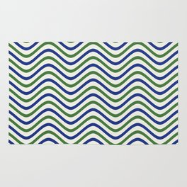 The Wave:  Blue + Green Rug