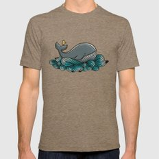 Tale of a Whale Mens Fitted Tee X-LARGE Tri-Coffee