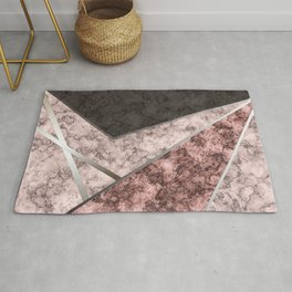 Marble . Combined abstract pattern . Rug
