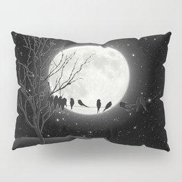 Moon Bath, Birds On A Wire Pillow Sham