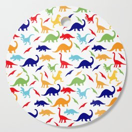 Colorful Dinosaurs Pattern Cutting Board