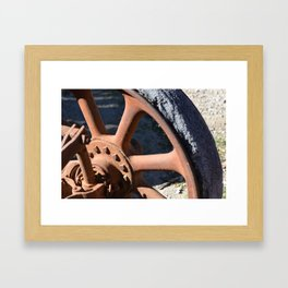 Rubber and Rust Framed Art Print