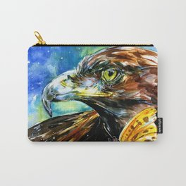 Golden Eagle And Butterfly by Kathy Morton Stanion Carry-All Pouch