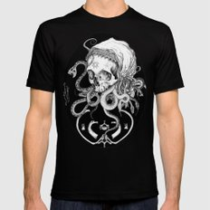 Witch Skull Mens Fitted Tee Black MEDIUM
