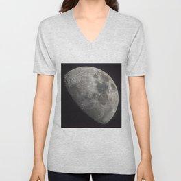Waxing Gibbous Moon Unisex V-Neck
