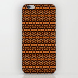 Dividers 02 in Orange Brown over Black iPhone Skin