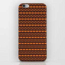 Dividers 02 in Orange Brown over Black iPhone Skin