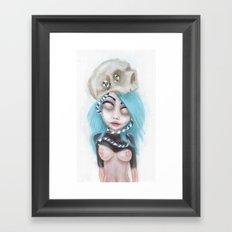 (Wearing Away) Blue Framed Art Print