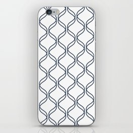 Double Helix - Navy #535 iPhone Skin