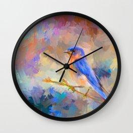 Bring On The Bluebirds Wall Clock
