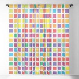 City Blocks - Rainbow #494 Sheer Curtain