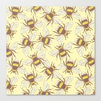 bees Canvas Prints featuring Bees! by Good Sense