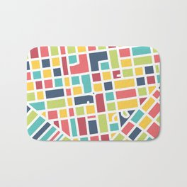 Lancaster, PA Block Map Bath Mat