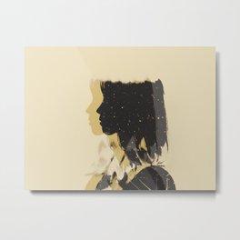 Moving Backwards Metal Print