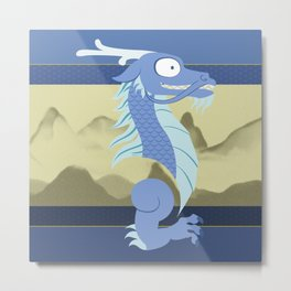 Silly Bestiary: East Asian Dragon Metal Print