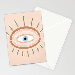 Retro evil eye - neutrals Stationery Cards