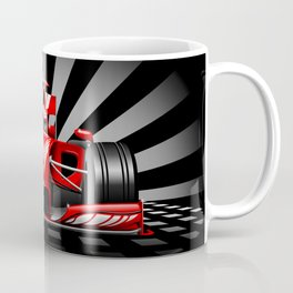 Formula 1 Red Race Car Coffee Mug
