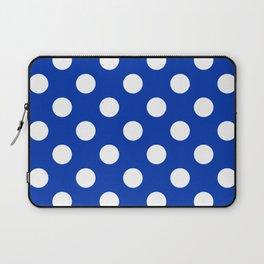 UA blue - blue - White Polka Dots - Pois Pattern Laptop Sleeve