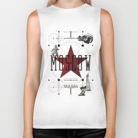 moscow Biker Tanks featuring Moscow Mockba by Virbia