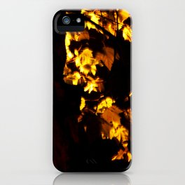 Glowing leaves iPhone Case