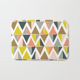 Colorful Geometric Triangle Pattern Bath Mat