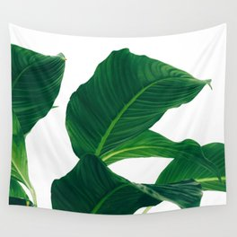 Green Leafs (Color) Wall Tapestry