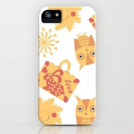 Travel pattern 4bg iPhone Case