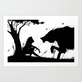 beauty and the beast.... Art Print