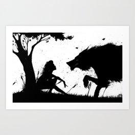 beauty and the beast.... Art Print