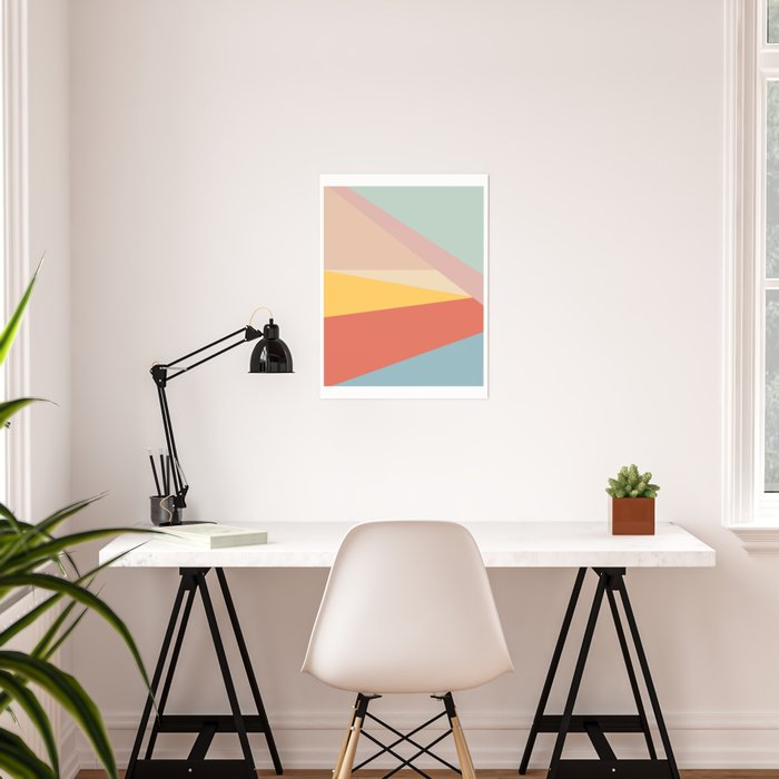 Retro Abstract Geometric Poster
