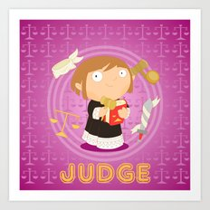 Judge Art Print
