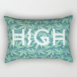 HIGH TYPO! Cannabis / Hemp / 420 / Marijuana  - Pattern Rectangular Pillow