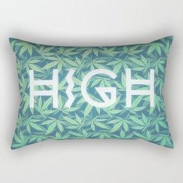 HIGH TYPO! Cannabis / Hemp / 420 / Marijuana  - Pattern Rectangular Pillow