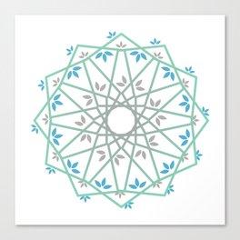 Decorative leaf Mandala Canvas Print