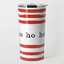 red stripes-ho ho ho Travel Mug