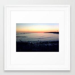 Sunset @ Dauphin Island Framed Art Print