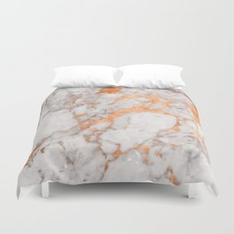 Copper Marble Duvet Cover